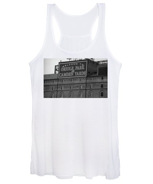Baltimore Orioles Park At Camden Yards Bw Women's Tank Top