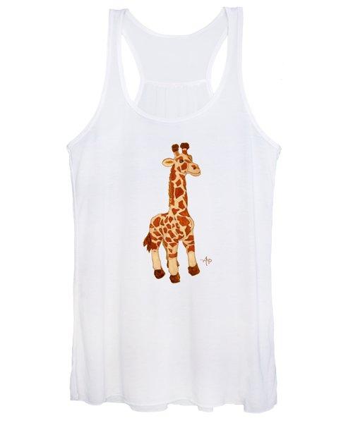 Cuddly Giraffe Women's Tank Top
