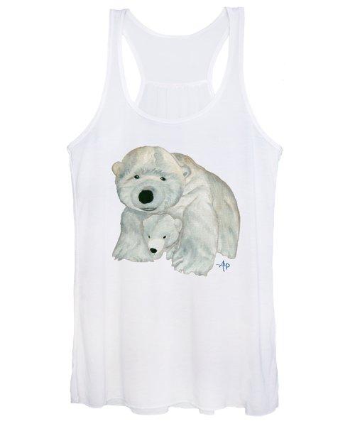 Cuddly Polar Bear Women's Tank Top
