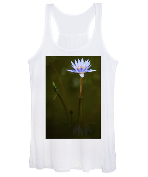 Deep Lily Reflection Women's Tank Top