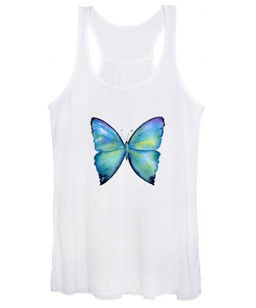 2 Morpho Aega Butterfly Women's Tank Top