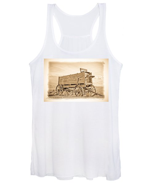 Old West Wagon  Women's Tank Top