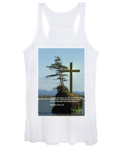 On This Rock I Will Build My Church Women's Tank Top