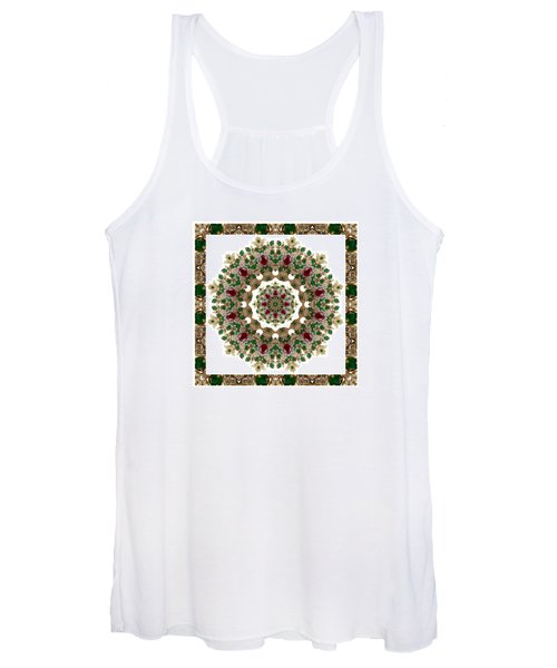 Ruby And Emerald Kaleidoscope Women's Tank Top