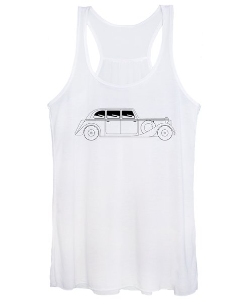 Sedan - Vintage Model Of Car Women's Tank Top