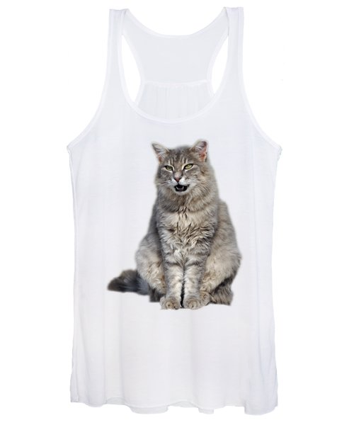 Sitting Cat Women's Tank Top