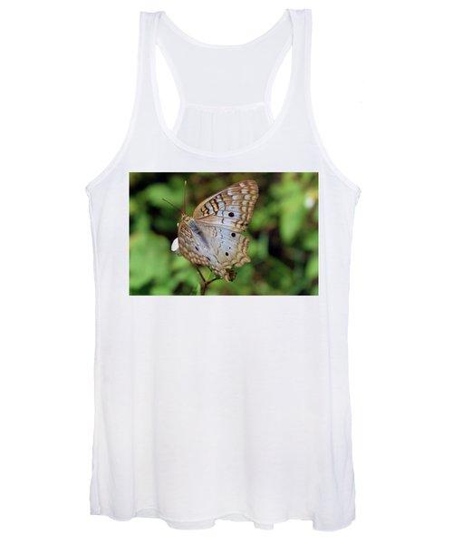White Peacock Butterfly Women's Tank Top
