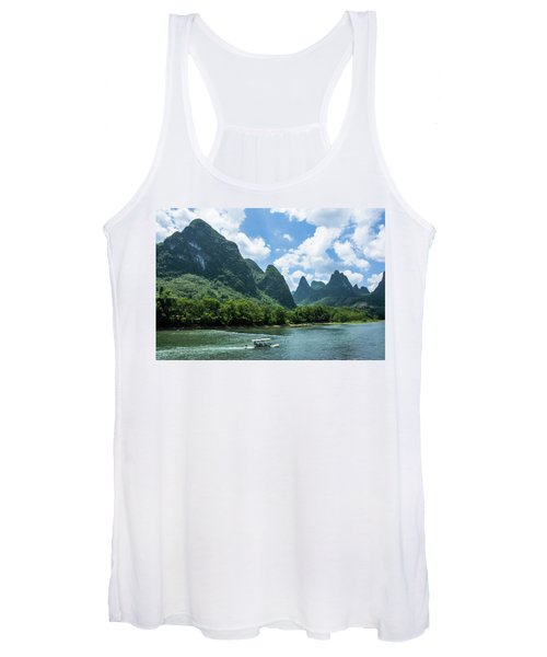 Lijiang River And Karst Mountains Scenery Women's Tank Top