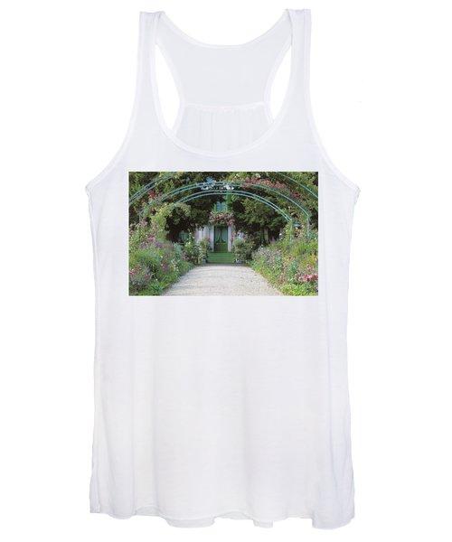 Claude Monet's Garden At Giverny Women's Tank Top