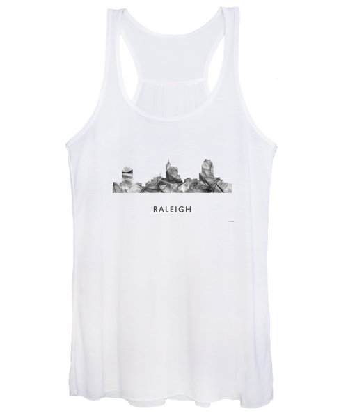 Raleigh North Carolina Skyline Women's Tank Top