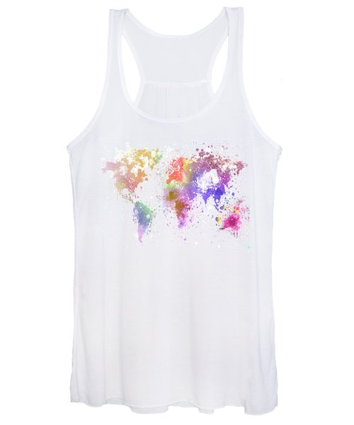 World Map Painting Women's Tank Top