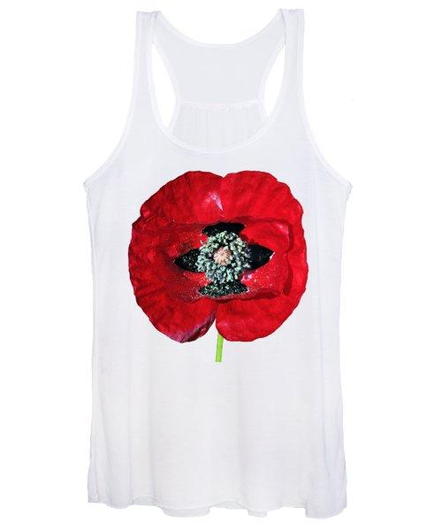 Poppy Flower Women's Tank Top