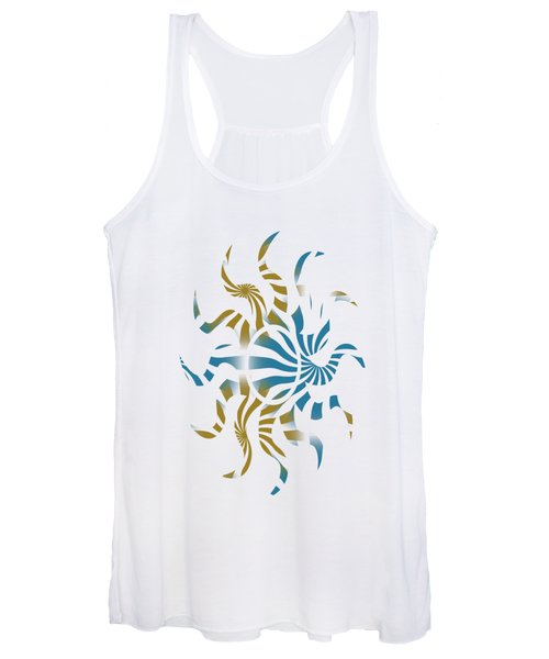 3d Spiral Pattern Women's Tank Top