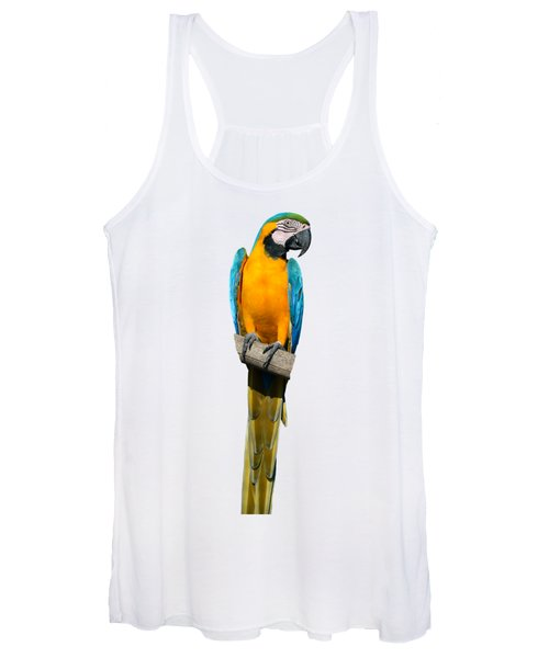 Blue And Gold Macaw Women's Tank Top