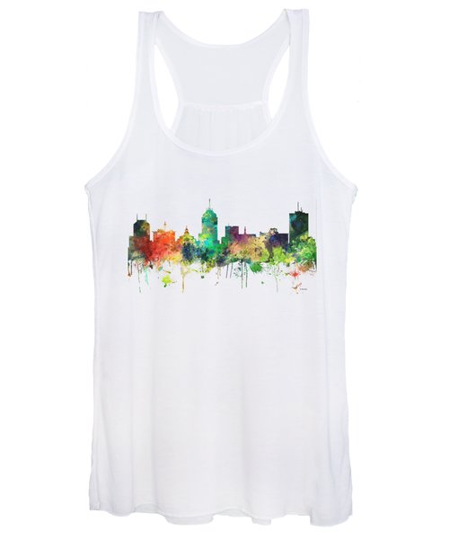 Fresno California Skyline Women's Tank Top