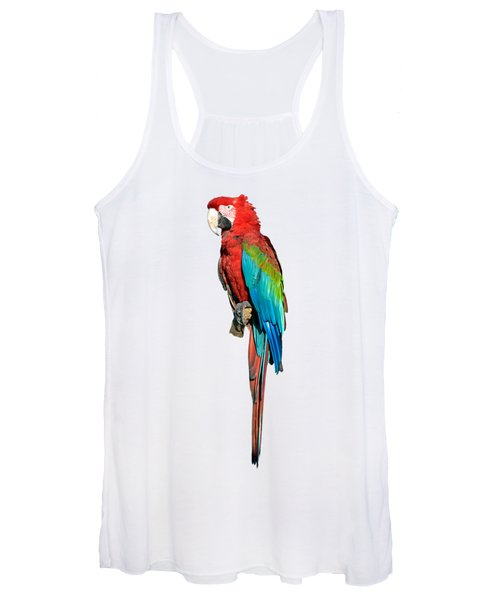Red And Green Macaw Women's Tank Top