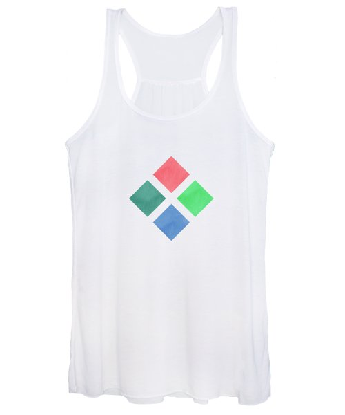 Watercolor Geometric Background Women's Tank Top