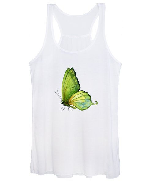 5 Sap Green Butterfly Women's Tank Top