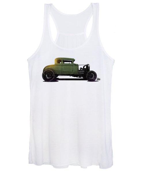 5 Window Hot Rod Women's Tank Top