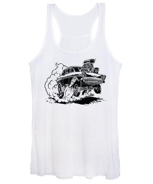 '57 Gasser Cartoon Women's Tank Top