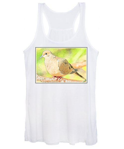 Mourning Dove Animal Portrait Women's Tank Top
