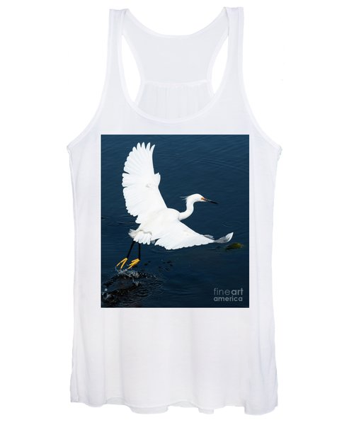 Snowy White Egret Women's Tank Top