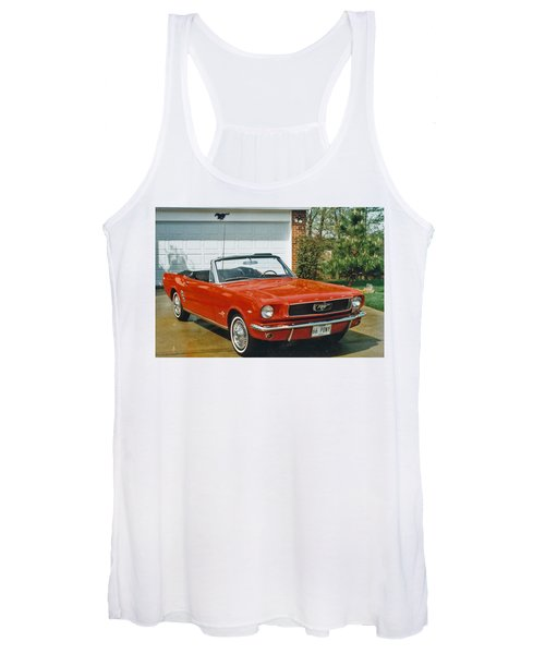 66 Mustang Convertable Women's Tank Top