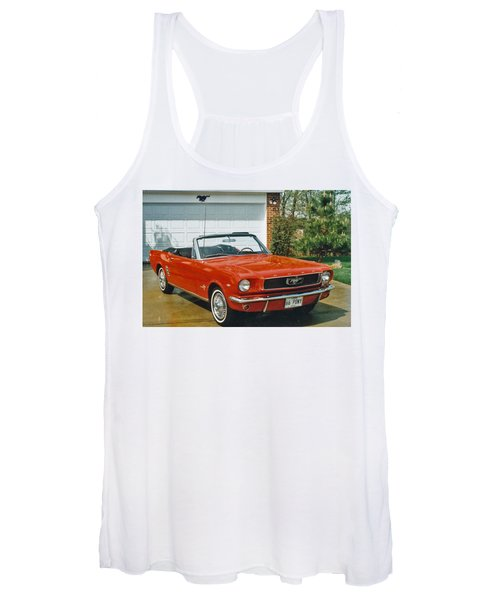 66 Mustang Convertable Women's Tank Top