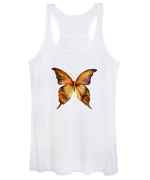 7 Yellow Gorgon Butterfly Women's Tank Top