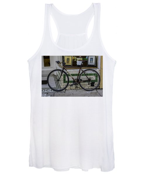 A Bicycle In The French Quarter, New Orleans, Louisiana Women's Tank Top