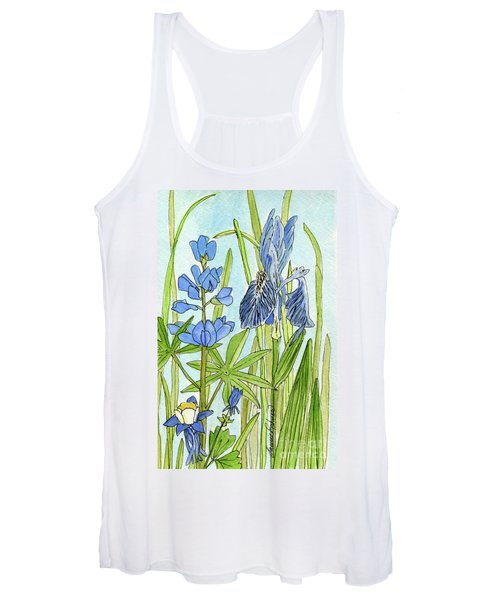 A Blue Garden Women's Tank Top