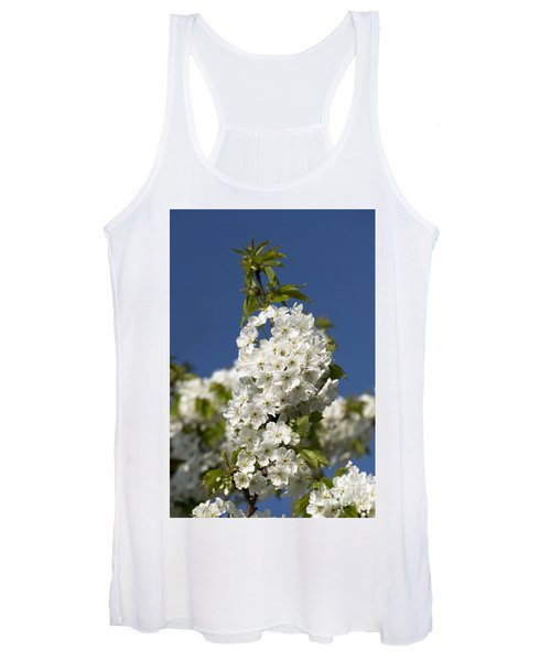 A Cluster Of Cherry Flowers Blossoming In The Springtime Women's Tank Top