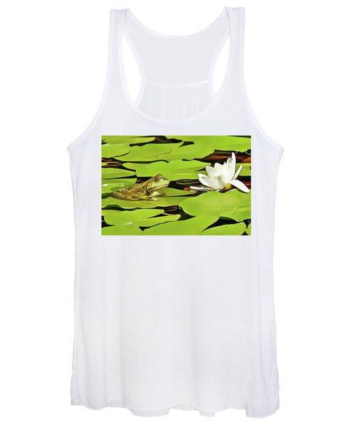 A Frog's Peace Women's Tank Top