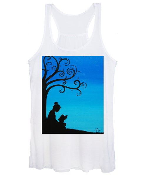 A Girl And Her Book Women's Tank Top