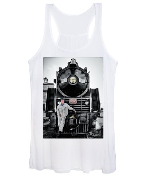 A Man And His Locomotive Women's Tank Top