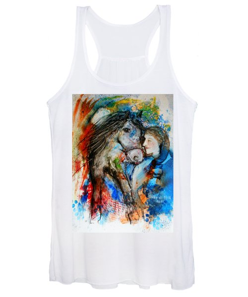 A Woman And Her Horse Women's Tank Top