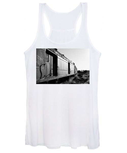 Abandoned Train Cars Women's Tank Top