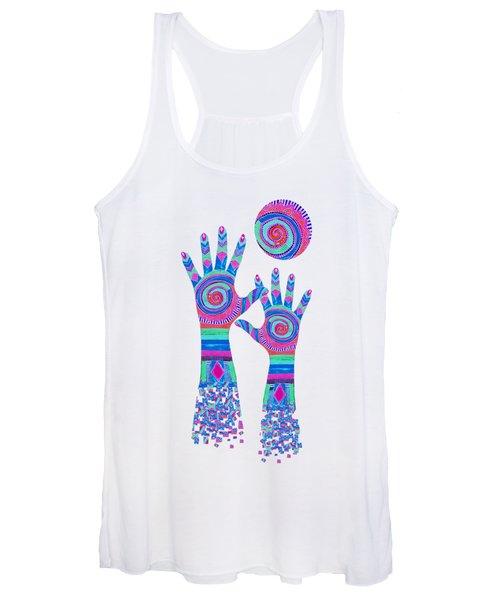 Aboriginal Hands Pastel Transparent Background Women's Tank Top