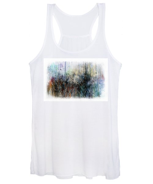 2f Abstract Expressionism Digital Painting Women's Tank Top