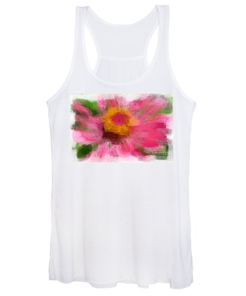 Abstract Flower Expressions Women's Tank Top
