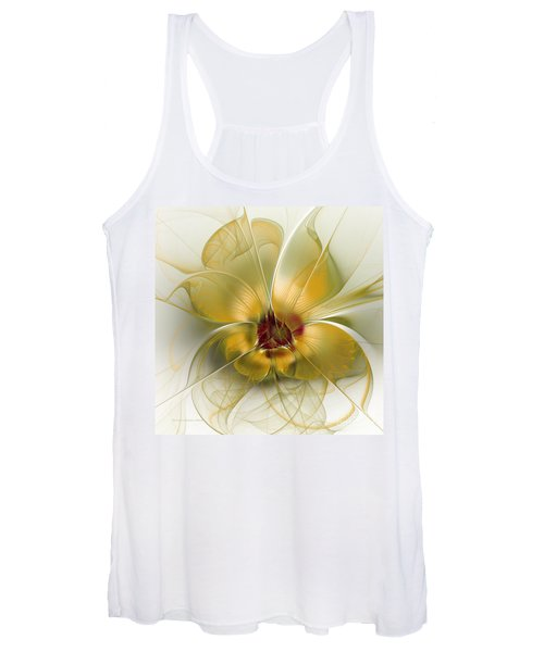 Abstract Flower With Silky Elegance Women's Tank Top