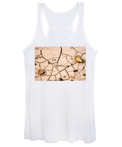 Abstract Mud Flat Pink Saturated Women's Tank Top