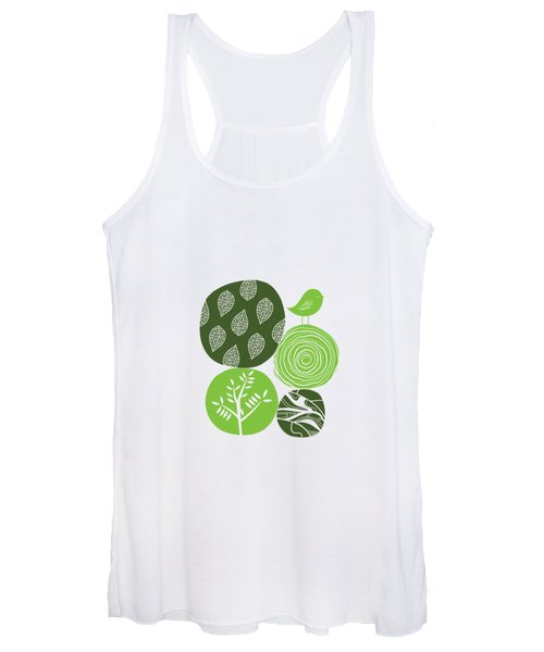 Abstract Nature Green Women's Tank Top