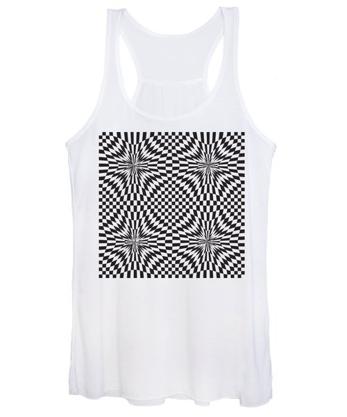 Abstract Vector Pattern Women's Tank Top