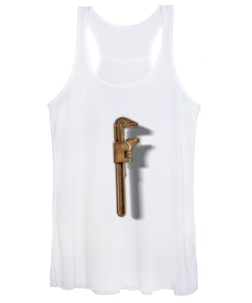 Adjustable Wrench Back On Color Paper Women's Tank Top