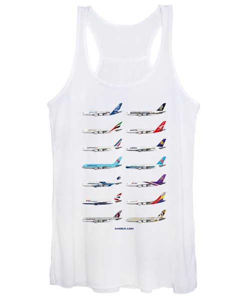 Airbus A380 Operators Illustration Women's Tank Top