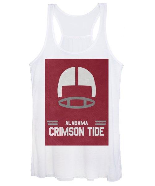 Alabama Crimson Tide Vintage Football Art Women's Tank Top