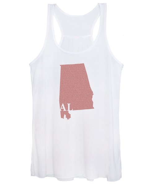 Alabama State Map With Text Of Constitution Women's Tank Top