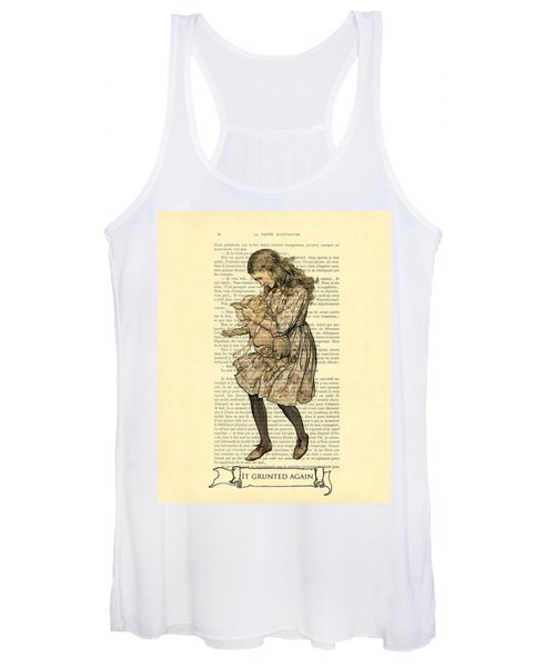Alice In Wonderland With The Pig Women's Tank Top