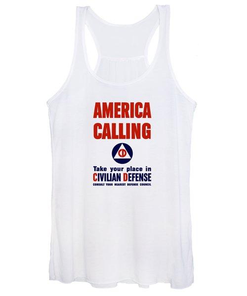 America Calling -- Civilian Defense Women's Tank Top